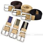 Army Style Pin Buckle Military Men Sports Web Canvas Belts Stretch 6 Colors