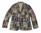 $395 Polo Ralph Lauren Mens Custom Fit Patchwork Cotton Sportcoat Blazer Jacket