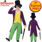 CK807 Roald Dahl Willy Wonka Chocolate Factory Boys Book Week Fancy Kids Costume