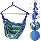 4 Colors Deluxe Hammock Rope Chair Porch Yard Tree Hanging Air Swing Outdoor US