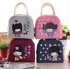 Jananese girl cartoon Lunch Box Bag Bento Red Container Travel Picnic Food lunch