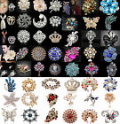 Womens Vintage Alloy Rhinestone Crystal Flower Wedding Bridal Bouquet Brooch Pin
