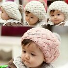 Knitted Infant Beanie Hat Cap Crochet Baby Warm Knit Beret Bonnet Stylish Cute