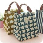 Cartoon Canvas bag Cooler Containers Lunch box Outdoor Travel lunch Storage Bag