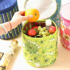 Flower oxford bucket bag Cooler warmer Lunch box Containers lunch Storage Bags