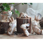 New Fashion Vivid Cute Rabbit Garden Miniature Home Decor Figurine Tiny Art Work