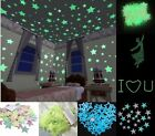 GLOW in the DARK SPACE 100x Wall Ceiling Decals STARS Kid's Room Decor Stickers