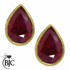 BJC® 9ct Yellow Gold Natural Ruby Pear Shape Stud Earrings Studs ER44