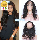 Brazilian Body Wave 360 Lace Frontal Band 8A  Unprocessed Virgin Hair Full Lace