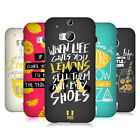 HEAD CASE DESIGNS LIFE AND LEMONS HARD BACK CASE FOR HTC ONE M8