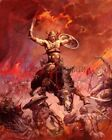 The Berserker Print by Frank Frazetta