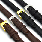 Ladies Soft Leather Watch Strap Band Choice of colours D001 - 8mm 10mm 12mm 14mm