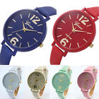 Geneva Women Casual Dress Watch Fashion Faux Leather Analog Quartz Wrist Watch