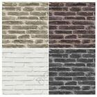 RUSTIC BRICK WALLPAPER ROLL RED BROWN WHITE BLACK AVAILABLE FEATURE WALL NEW