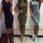 Women Elastic Bandage Party Dress Slim Bodycon Casual Cocktail Dress Clubwear