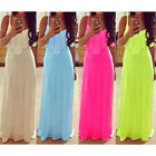 Elegant Boho Women Ladies Sleeveless Lace Sundress Maxi Evening Party Long Dress
