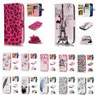 For Samsung Galaxy S4 i9500 Anaglyph 3D Patterns Leather Multi-Cards Case Cover