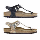 Birkenstock Kairo Birko Flor Regular Fit Womens Shiny Snake Sandals