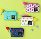 Pop And Minimum Card Pocket Wallet Purse Coin Key Ring Tassel Cute Name Pouch