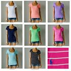 NWT Polo Ralph Lauren Short Sleeve Pony ScoopNeck Fitted T-Shirt Tee XS S M L XL