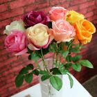10-20 Head Latex Rose Flowers Touch Real For wedding Bouquet Decoration 8 Colors