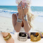 1 PC Retro Turkish Coin Festival Tribal Ethnic Statement Bracelet Boho Style TBU