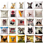 "18""Cute Animals Cotton Linen Pillow Case Sofa Cushion Cover Fashion Home Decor"
