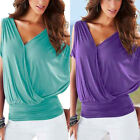 Fashion Womens Sexy Short Sleeve  Blouse Vest Top Casual Tank Tops T-Shirt Tee