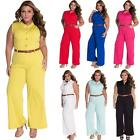 New Women's Ladies Clubwear Trousers Playsuit Bodycon Party Jumpsuit Romper S9L3