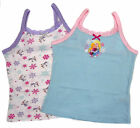 Girls Two Pack Vests Frozen Anna and Elsa Ex Store Lace Trim Great Easter Gift