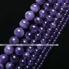 Grade A Natural Amethyst Gemstone Round Charm Bead Jewelry Making DIY 4mm - 14mm
