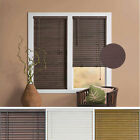 "Window Blind 2"" Slats Mini Blinds Vinyl Embossed Woodgrain Mahogany Woodtone"