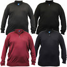 Mens Jumpers D555 Duke Knitted Sweater Pullover Big King Size Zip Top Winter New