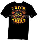 TRICK OR TREAT PUMPKIN HALLOWEEN THEME COSTUME PARTY GRAPHIC PRINTED T-SHIRT TEE