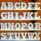 A-Z & White Wooden LED Letter Lights Sign Alphabet Night Lights Wedding Decor