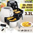 3.2L Deep Air Fryer Kitchen Healthy Rapid Cooker Low Fat Oil Free with Alarm