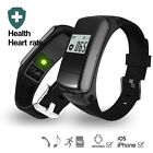 F50 Smart Band Earphone Bluetooth Music Sport Watch Wristband Heart Rate Monitor