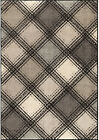 Orian Gray Crosshatch Boxes Diamonds Lines Contemporary Area Rug Geometric 4307