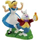 Alice in Wonderland with White Rabbit Disney Salt and Pepper Shakers Set