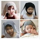 Baby Toddler Kids Boys Girls Knitted Crochet Rabbit Ear Beanie Winter Hat Cap