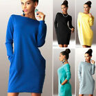 Women Long Sleeve Bodycon Dress Ladies Evening Party Mini Pencil Dress Plus Size