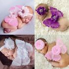 Cute Baby Girl Clothes Newborn Headband+Wing Outfit Set Photography Photo Props