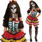 CL975  Day Of The Dead Costume Floral Dress Up Senorita Halloween Skull Mexican