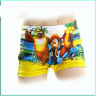 Kids Little Boys Swimming Trunks Cute Personality Cartoon Bear Swimming Shorts