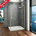 1200 Frameless Hinge Shower Enclosure Door Screen Cubicle Tray Easy Clean Glass