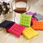 COLOURFUL SEAT PAD DINING ROOM GARDEN KITCHEN CHAIR CUSHIONS WITH TIE ON-new