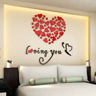 Lovely Mirror Hearts Home 3D Wall Stickers Decor DIY Decal Removable Hotsale!