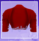 Girls Bolero Shrug Dark Red Wedding Christmas Cardigan * Last ones Remaining *