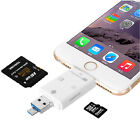 3 in 1 iFlash Drive USB Micro SD TF Card Reader Writer for Apple IOS PC Android