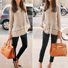 Women Casual Knitted Sweater Long Sleeve Pullover Loose Knitwear Jumper Tops NEW